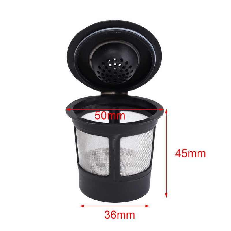 3Pcs Refillable Reusable Piala Kopi Kompatibel dengan K Cup Stainless Steel Mesh Kopi Sistem dengan Sendok Dapur alat