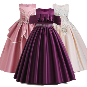 Image 1 - Robe de concours en dentelle pour filles, longue, tenue de soirée, de mariage, de fête danniversaire, de Communion, de pétales