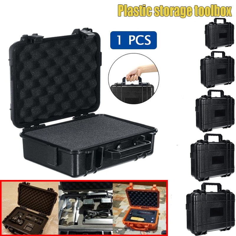 Protective Safety Instrument Tool Box Waterproof ABS Plastic Dry Box Storage Toolbox Sealed Tool Case Impact Resistant  Suitcase