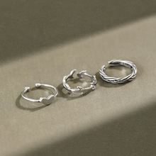 Real 925 sterling silver twist leaf heart  joint ring woman fine jewelry, cute women's rings silver 925 accessories toe ring 925 sterling silver thai handcrafted individual trendy leaf frosted fine bracelet creative feather lady s ring accessories