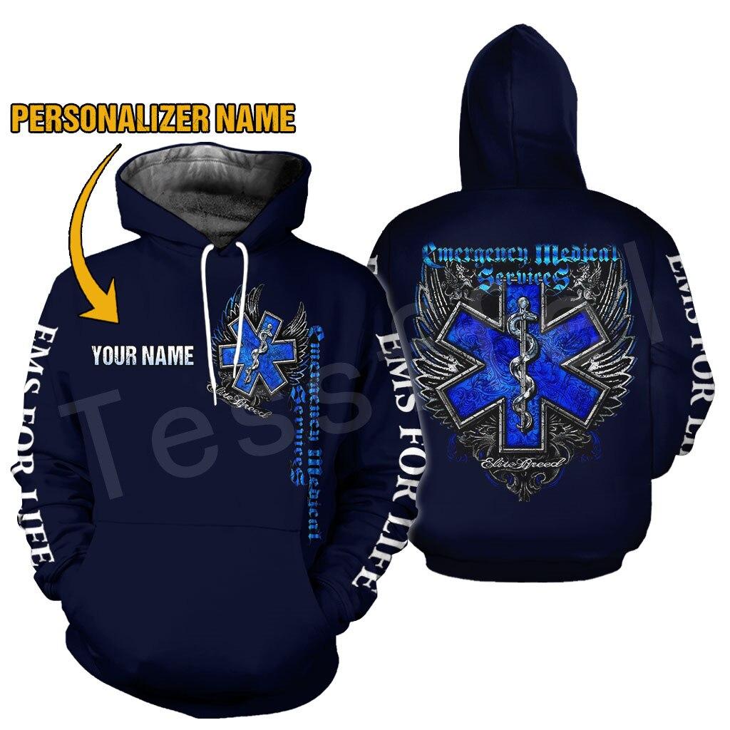 Tessffel Emergency Medical Technician EMT EMS Paramedic NewFashion Unisex Pullover 3DPrint Sweatshirt/Hoodies/zipper/Jacket S-11