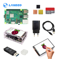 raspberry pi 3b plus mode 3.5 inch screen basis kit with Protective Case 32G TF card and multi-card reader and heatsink EU power