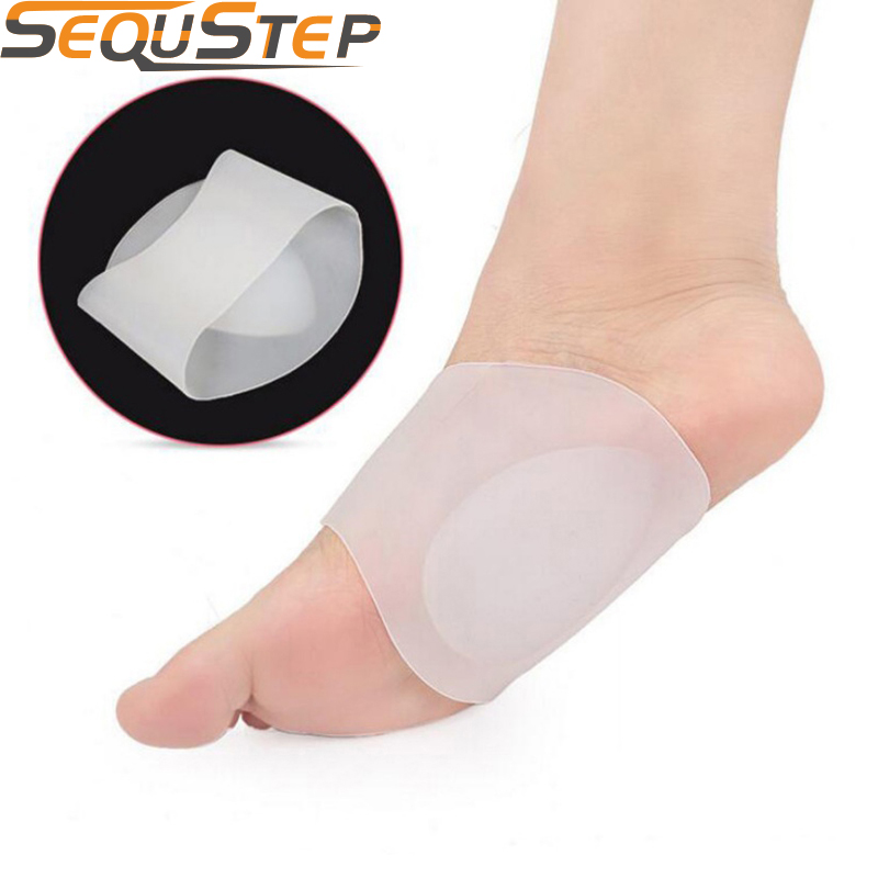 Silicone Flat Feet Insole Foot Arch Support Men Orthotic Pad Arch Corrector Plantar Fasciitis Orthopedic Insoles 1pair=2pcs