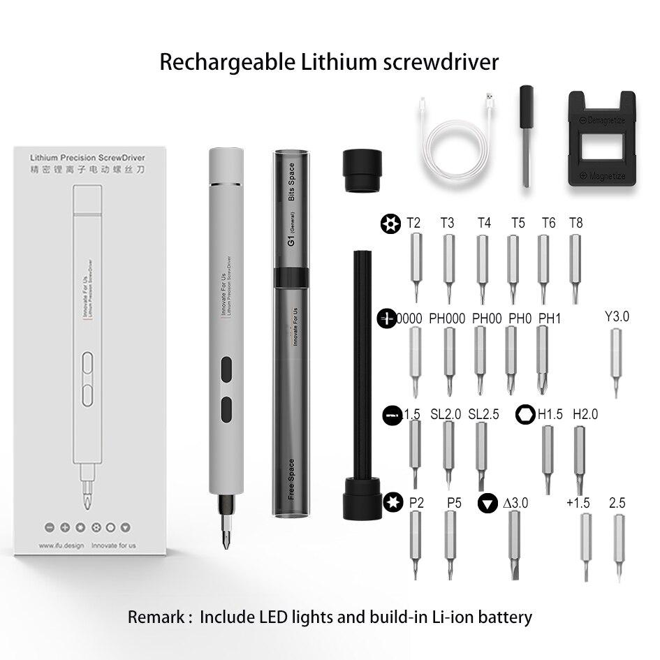 Tournevis électrique Portable Rechargeable au Lithium tournevis de précision pour ordinateur Portable téléphone Portable petits appareils outils de réparation