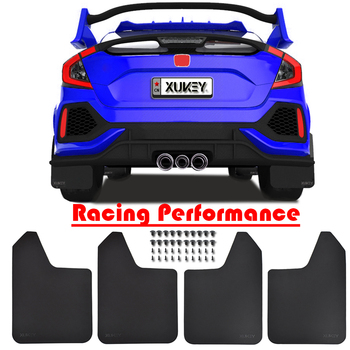 Sport Car Auto Rally/Racing/Wide Front Rear Mud Flaps Splash Guards Flap Mudguard Widen Body Kit Mudflaps 15x11.5 Fixing Clips image