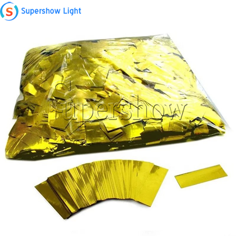 2KG/lot Gold and Silver Mylar Confetti Paper Metallic Confetti Paper Stage Special Effect for Confetti Machine in Wedding Show|Stage Lighting Effect| |  - title=