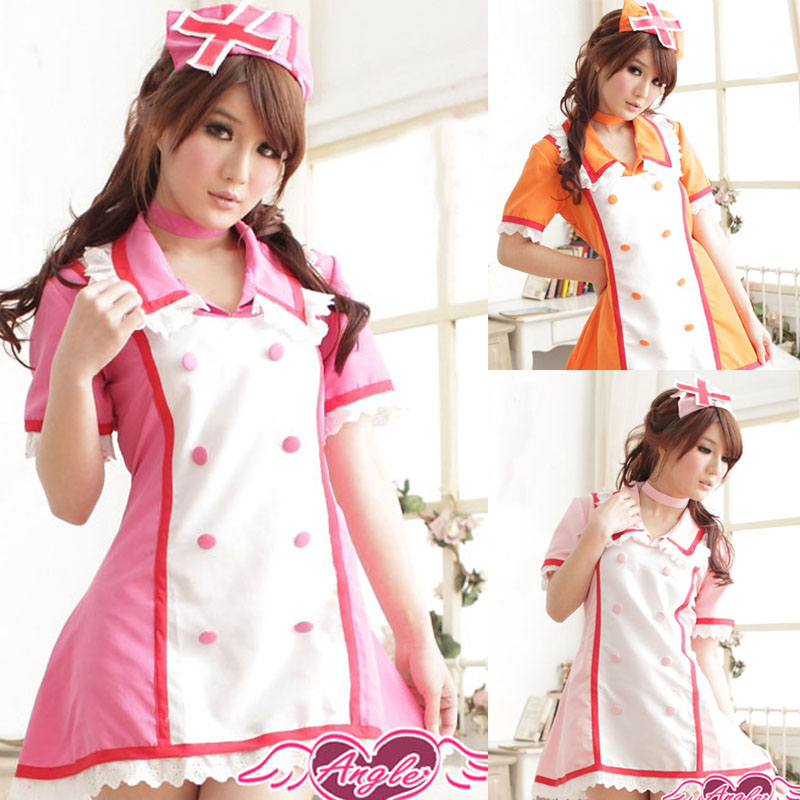 Fashion <font><b>Anime</b></font> Vocaloid Cosplay Hatsune Miku Nurse Uniform Clothes <font><b>Sexy</b></font> <font><b>Costume</b></font> Women Dress for <font><b>Halloween</b></font> Party image