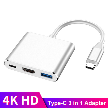 USB C HDMI Type C HDMI Mac 3.1 Converter Adapter USB Hub Type C to HDMI/USB 3.0/Type-C Aluminum For Apple Macbook Adapter orico aluminum hub type c to type a type c hdmi converter support pd multi function laptop station for macbook pc