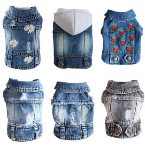 Coat Jeans Puppy-Clothing Jacket Dog Cowboy Vest Pet-Dog Denim for Small Dogs XS-2XL