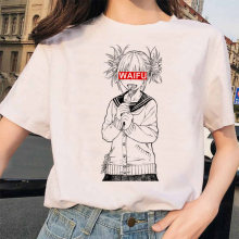 Japanese Anime Ahegao T Shirt Women Harajuku Boku No Hero Academia T-shirt Senpai Funny Tshirt Himiko Toga Top Tees Female(China)