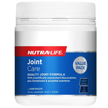 NutraLife Joint Care Quality Formula Glucosamine Sulfate 200Caps Healthy Joints Mobility Cushioning Lubrication Cartilage Repair image
