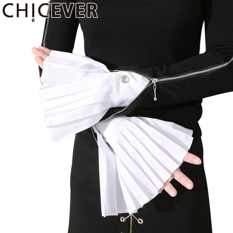 [CHICEVER] Spring The Organ Cuff Pleated Horn Cuffs Women New Fashion Clothing clothing fashion clothing womanclothing women fashion - AliExpress