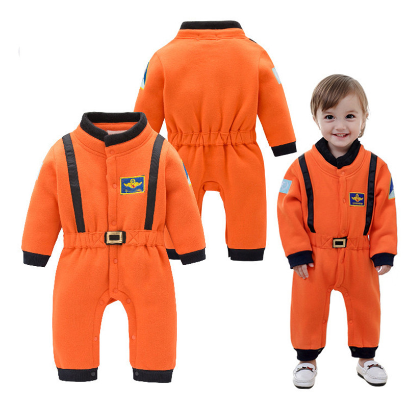 Toddler Baby Cosmonaut Astronaut Costumes Infant Boys Halloween Party Cosplay Spacesuit Jumpsuit Rompers Birthday Gift