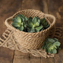Newborn Photography Props Hand-Woven Straw Basket Natural Bamboo Baby Props Baskets Baby Shooting Accessories Posing Chair Sofa