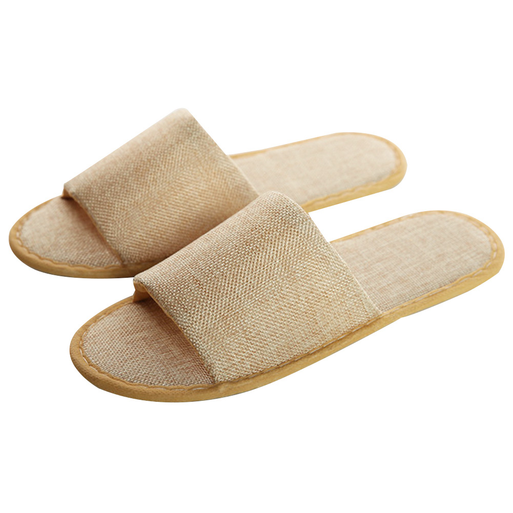 5 Pairs Women's Men's Slipper Anti Slip Travel Hotel Disposable Home Guest Spa Slippers Soft  Linen Warm Winter Casual Shoes