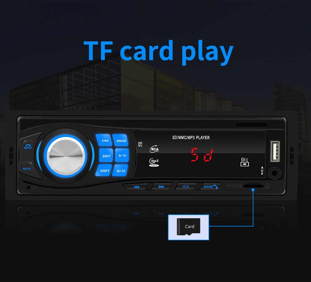 Autoradio 1DIN Auto Radio Stereo In-Dash Bluetooth Audio TF/USB/AUX/FM Kopf Einheit MP3 player