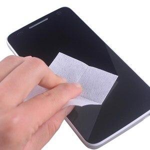 Image 2 - 740 pièces humide nettoyage à sec lingettes chiffon alcool lingettes pour verre trempé protecteur décran caméra lentille LCD écrans dépoussiérage lingettes