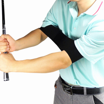 Golf Swing Trainer Practicing Guide Gesture Alignment Training Aid Aids Correct Swing Trainer Elastic Arm Band Belt hot 1pc golf swing trainer beginner gesture alignment practice guide golf clubs gesture correct wrist training aid