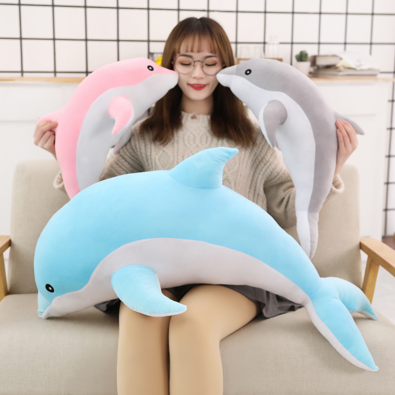 Low Pricce 30cm Kawaii Dolphin Plush Toys Doll Stuffed Down Cotton Anima Nap Pillow Creative Kids Toy Christmas Gift For Girls