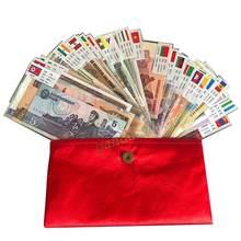 Lot de 52 pièces de billets de 28 pays, état UNC, véritables originaux, Collection, cadeau