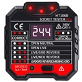 HT106B розетка тестер цепи полярности детектор напряжения настенный выключатель искатель УЗО тестер
