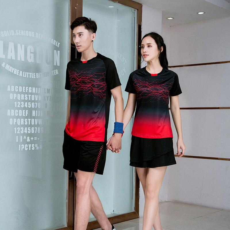 Новинка 2020, футболка для бадминтона для мужчин и женщин, рубашки для гольфа, тенниса, футболка для настольного тенниса, быстросохнущие спортивные шорты, футболка s 9909-1