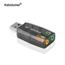 Speaker Audio-Interface Usb-Sound-Card External-Adapter Laptop Kebidumei for PC Micro-Data