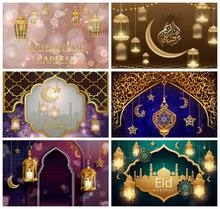 Laeacco musselina eid mubarak ramadan lua fotofone para quarto decro retrato do bebê fotozona foto pano de fundo fotografia fundos
