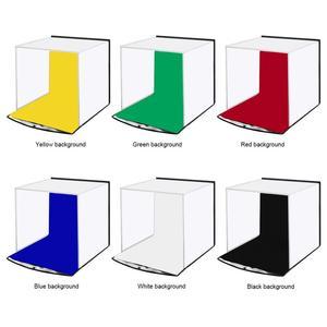 Image 3 - PULUZ Portable Softbox 30*30CM boîte à lumière Studio LED Photo Lightbox et 6 couleurs décors pour la photographie de table LED boîte déclairage