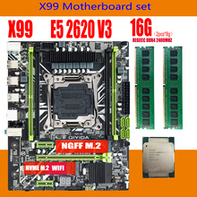 Server MATX Xeon E5 DDR4 2620 V3 Qiyida X99 Memory-Combo-Kit-Set with 2--8g/Ddr4/2400mhz/Regecc
