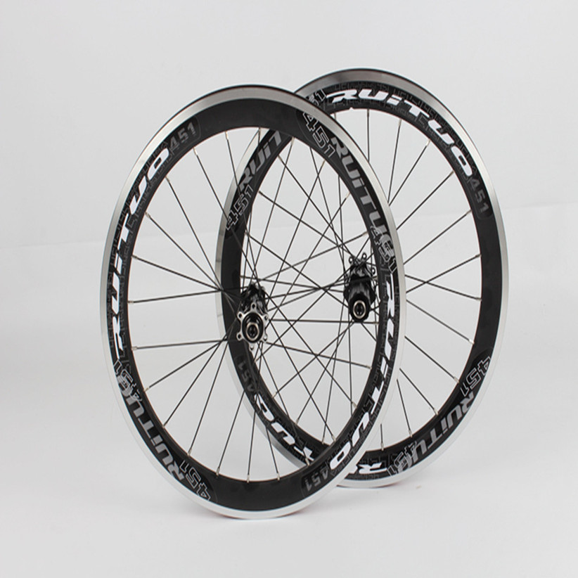 RT <font><b>BMX</b></font> Folding Bike Bicycle Race 5 Sealed Bearings <font><b>Wheel</b></font> 451 Disc Brake Wheelset Aolly Rims image