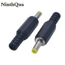 Ninthqua 2/5/10 pçs preto 4.0mm x 1.7mm dc alimentação macho tomada jack adaptador 4.0*1.7 jack para tomada portátil tomada diy