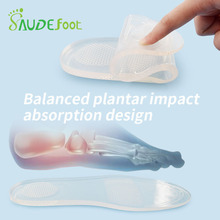 Transparent Silicon Insoles Running Cushion Skid Resistance Shoes Pads Relieve Heel Pain Fatigue Multifunction Gel Inserts