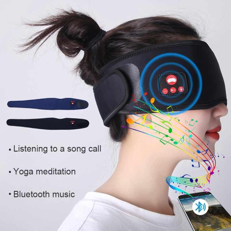 Không Dây Mắt Ngủ Mặt Nạ Bluetooth 5.0 3D Stereo Ngủ Miếng Che Mắt Sắc Thái Hỗ Trợ Cuộc Gọi Rảnh Tay Nhạc Hữu Ích Cho Giấc Ngủ