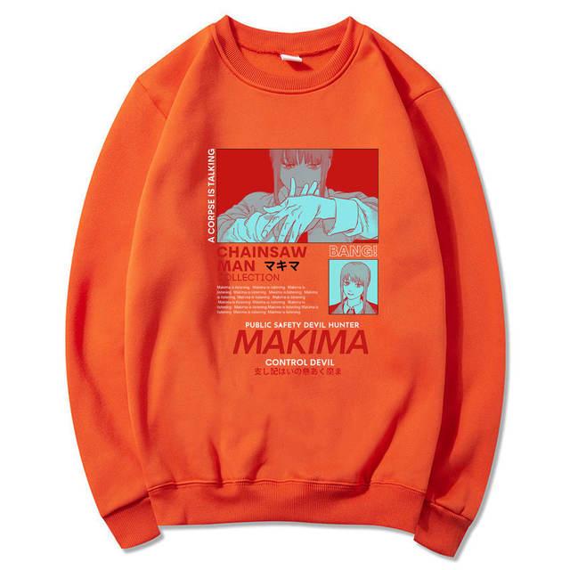 MAKIMA CHAINSAW MAN THEMED SWEATSHIRT (10 VARIAN)