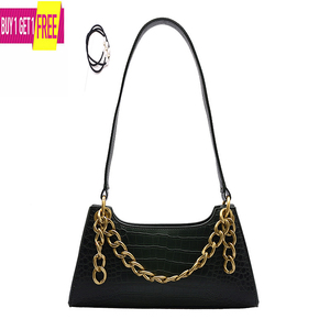 Image 1 - Leather Crossbody Bag For Women Mini Fashion Messenger Bag Retro Evening Handbag Chain Shoulder Bags Small Purse Female boston