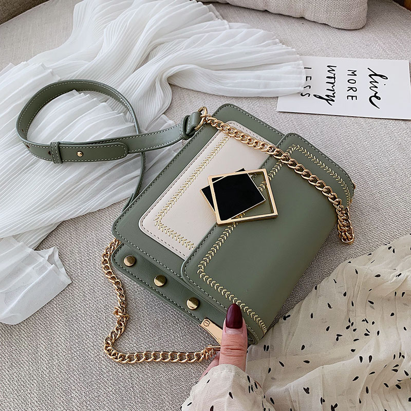 Chain Pu Leather Crossbody Bags For Women 2019 Small Shoulder Messenger Bag Fashion Special Lock Design Female Travel Handbags