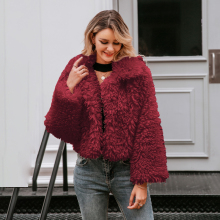 Simplee Casual long sleeve warm loose overcoats women 2019 Autumn winter female fake fur coat Ladies elegant solid lapel outwear