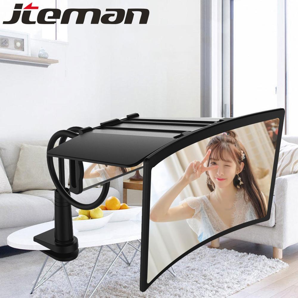 "HD 12"" Phone Screen Amplifier Projection 3D Cinema Amplificatore Curved screen Magnifier Amplifier Adjust Lazy Bracket Visor"