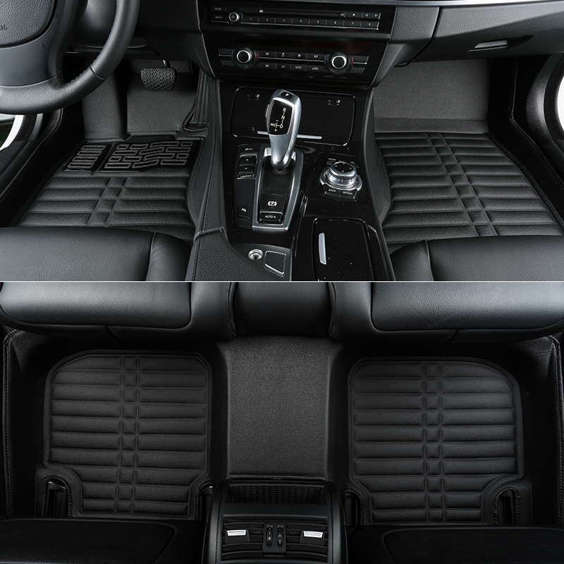 No Odor Green Rugs Car Floor Mats for Mercedes GL 350 X164 7seats Waterproof Carpets for GL350 image
