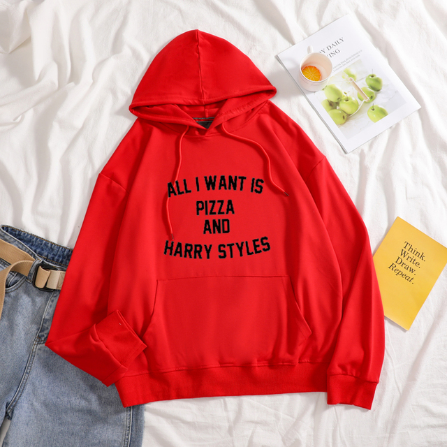ALL I WANT IS PIZZA AND HARRY STYLE HOODIE (7 VARIAN)