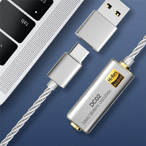 Image 5 - Portable for iBasso Headphone Amplifier Adapter DC01 DC02 USB DAC for Android Phone PC Tablets 2.5mm/3.5mm HiFi HiRes Adapter