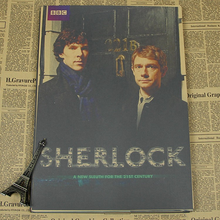 The film quot Sherlock quot is a classic retro poster home decoration painting in Painting amp Calligraphy from Home amp Garden