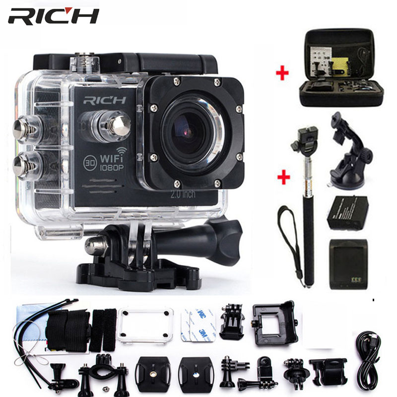 Экшн-камера wifi HD 1080p 30Fps видео go Bike Cams pro Водонепроницаемая 30 М мини-камера для шлема Спортивная камера