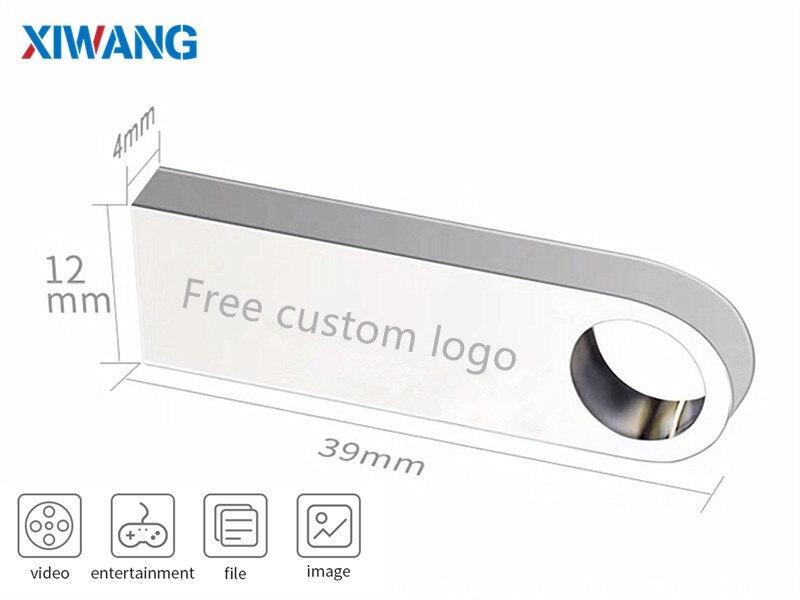 New USB Flash Drive 32GB Silver Metal USB 2.0 Pendrive 4GB 8GB 16GB 64GB 128GB U Disk Pen Drive 128GB Flash Memory Stick wholesale (9)