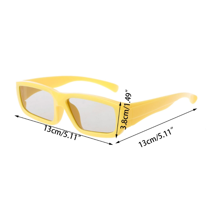 3D Glasses Children Size Circular Polarized Passive 3D Glasses For Real D 3D TV Cinema <font><b>Movie</b></font> Au08 19 Dropship image