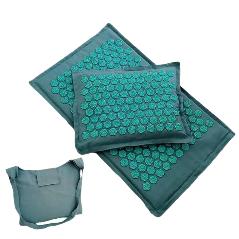 Lotus Spike Acupressure Mat Massage Mat And Pillow Set Yoga Acupuncture Cushion Relieve Back Neck Muscle Pain Body Massage Mat