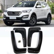 цена на Car Mud Flaps For Hyundai Santa Fe LX ix45 2013 - 2018 Santafe Mudflaps Splash Guards Mud Flap Mudguards Styling 2014 2015 2016