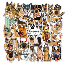10/30/50 Pack Animal Dog German Shepherd Sticker Waterproof PVC Skateboard Graffiti Guitar Laptop Car Cool Vsco Stickers Kid Toy