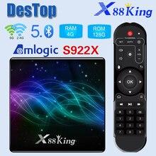 X88 King 4GB 128G Amlogic S922X TV Box Android 9.0 Dual Wifi